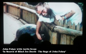 John Fahey with turtle