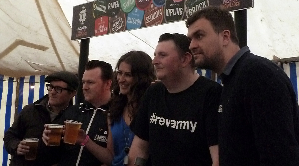 Reverend &the Makers launch beer at Bearded Theory