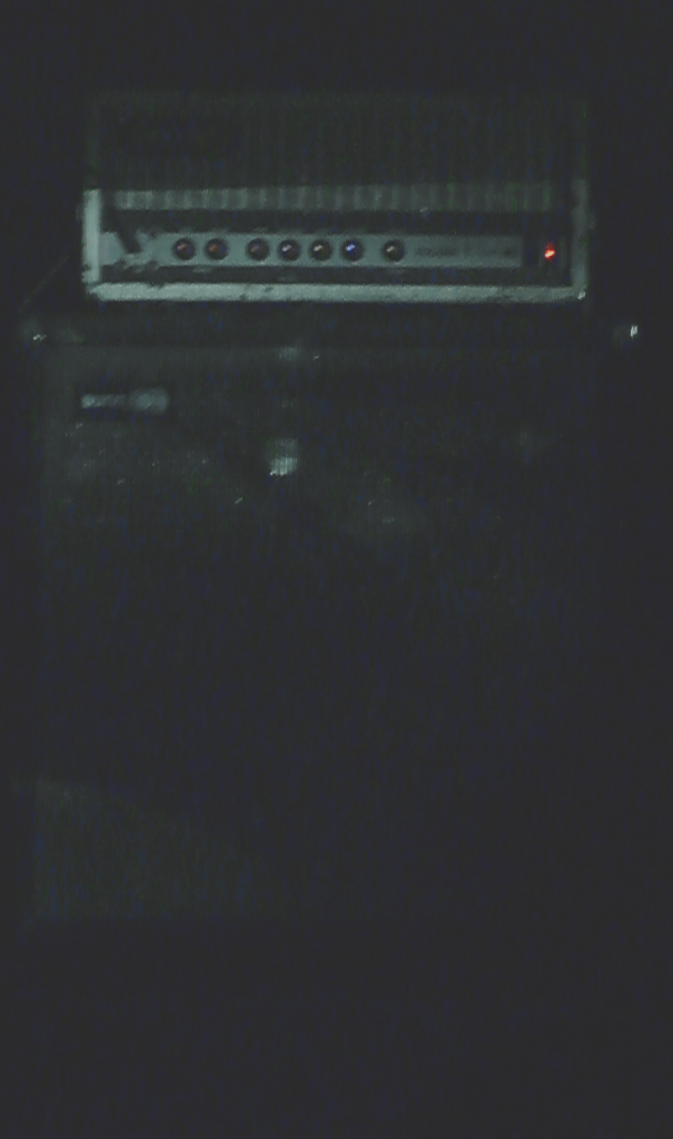 One of Stephen O'Malley's Sunn amps at Nuit d'Hiver 2013